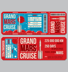 space travel boarding pass template vector image