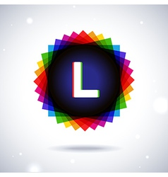 Spectrum logo icon Letter L vector image