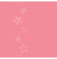 Starfish pink pastel stripe line art vertical vector image