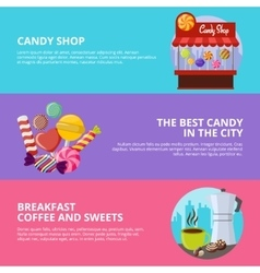 Sweet Candy Banners vector