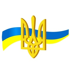 symbols of ukraine vector image