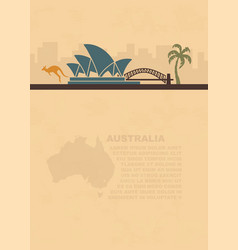 Template leaflets with a map and symbols the vector