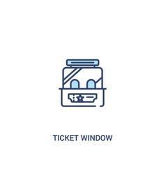 Ticket window concept 2 colored icon simple line vector