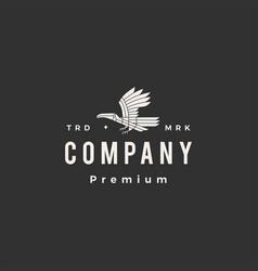 toucan monoline hipster vintage logo icon vector image