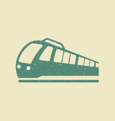 train icon in grunge style vector image