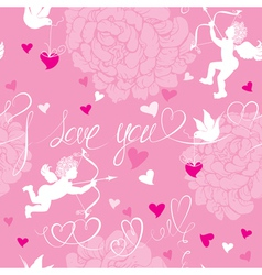 Valentines Day pink background vector image