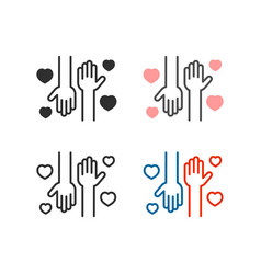 volunteering help icon vector image