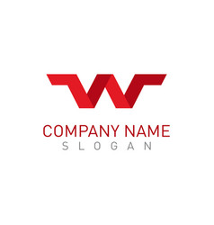 W red logo vector