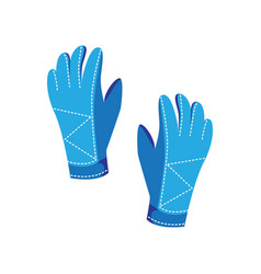 warm gloves are a winter accessory for extreme ski vector image