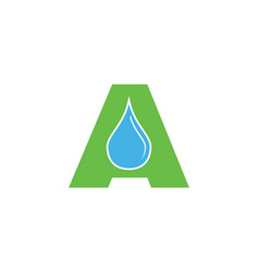 water drop letter a initial logo template vector image