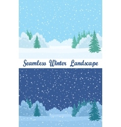 Winter Forest Seamless Landscapes vector image