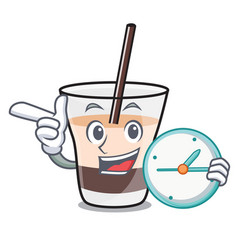 with clock white russian character cartoon vector image