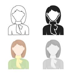 woman icon cartoon single avatarpeaople icon vector image