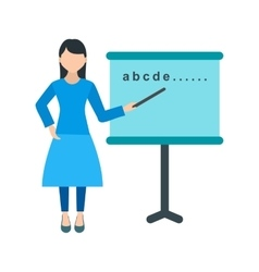 Woman Teaching vector