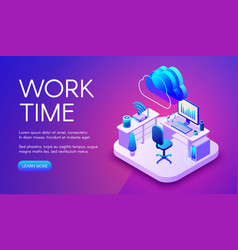 Work and internet technology vector