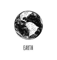 world globe icon isolated on white background vector image