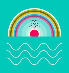 Flat Design Ocean vector image vector image