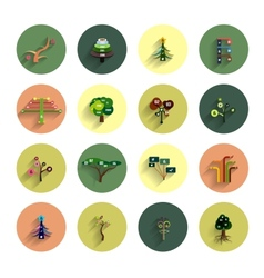 Flat eco tree infographic icon design templates vector image