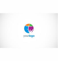 happy man cross logo vector image vector image