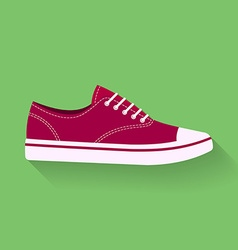 icon of sneakers Sport shoes footwear sign symbol vector image