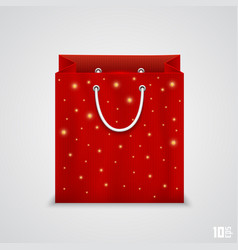 red paper bag vector image