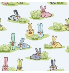 wallpaper with hares vector image vector image