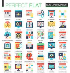 seo optimization complex flat icon concept vector image vector image