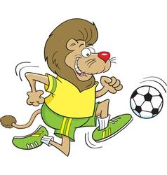 Cartoon Soccer Lion vector image