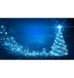 Christmas card with Magic Tree vector image vector image
