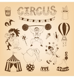 circus design elements vector image