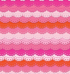 Cute pink ruffle seamless background vector image vector image
