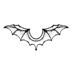 grunge bat wings vector image