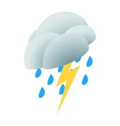 Lightning rain cloud icon isometric 3d style vector image vector image