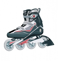 roller shoes vector image
