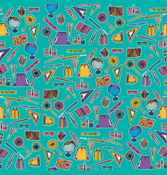 school design elements seamless pattern vector image