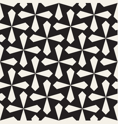 Seamless black and white cross lattice pattern vector