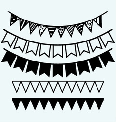 Bunting and garland vector image vector image