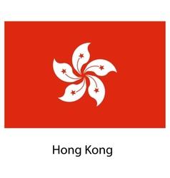 Flag of the country hong kong vector image