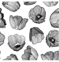 ink seamless pattern vector image