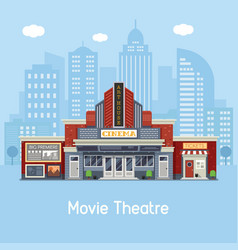 movie theater building vector image