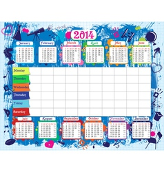 Timetable and calendar vector image