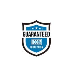 100 guaranteed protection shield vector