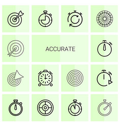 14 accurate icons vector