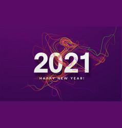 2021 white inscription on purple background vector image