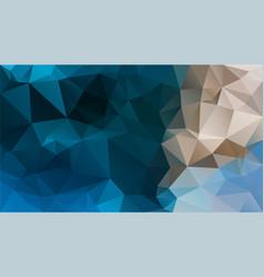 Abstract irregular polygon background blue beige vector