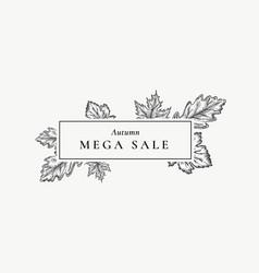 autumn mega sale abstract retro label vector image