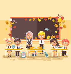 Back to school cartoon vector