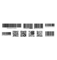 Barcodes qr code product identification mark vector