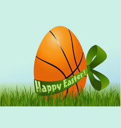 Basketball Easter egg vector
