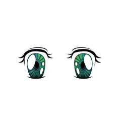 bright eyes green cololrs beautiful eyes vector image